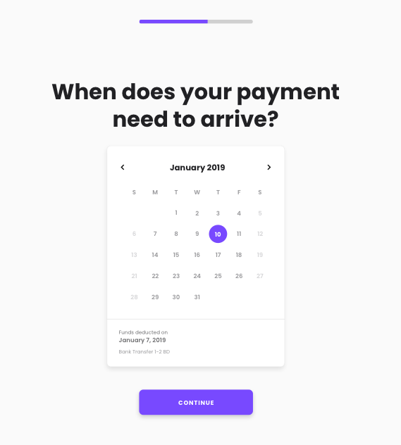 Choose Payment Date